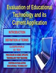 Evaluation of Technology Learning
