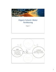 Topic 07 - Organic Solvent-Water Partitioning