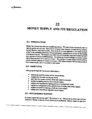 L-22 MONEY SUPPLY AND ITS REGULATION