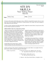 Note Taking Time Savers 1,2,3 Reader Use