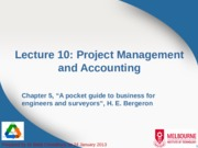 Lecture 10 - Project Management and Accounting