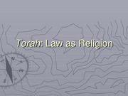 3 Torah Law as Religion