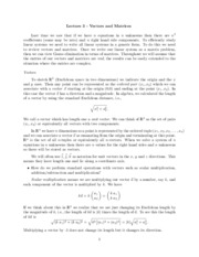 Study Guide on Vectors and Matrices
