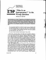 Gartner88 - Who Is An Entrepreneur Is The Wrong Question (American Journal of Small Business).pdf