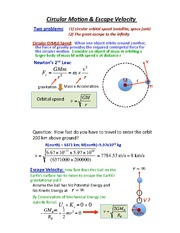 PHYS 144 Circular Motion and Velocity Notes