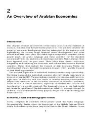 An Overview of Arabian Economies