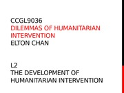 CCGL9036 L2 Development of Humanitarian Intervention