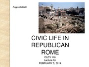 Civic Life Republican Rome