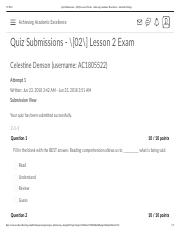 Quiz Submissions - _[02_] Lesson 2 Exam - Achieving Academic Excellence - Ashworth College.pdf