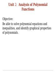 Unit 2 Notes:  Analysis of Polynomial Functions.pptx