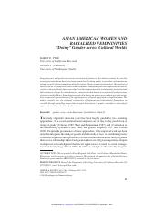 Pyke and Johnson - Asian American Women and Racialized Femininities