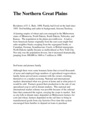 The Northern Great Plains
