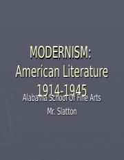 Modernism PowerPoint