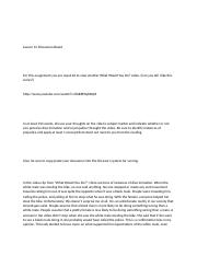 Lesson 12 Discussion Board.docx