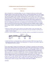 Chapter 12 Mini-case_Understanding Healthcare Financial Mgmt