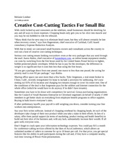 Creative Cost-Cutting Tactics For Small Biz - Forbes