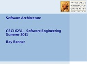 6. Software Architecture