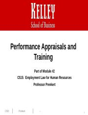 Performance Appraisals and Training 2015