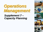 Topic 6 Capacity Planning