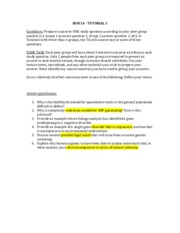 Tutorial 3 Study Questions 2014