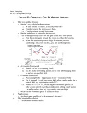 L.2 Opportunity Cost & Marginal Analysis