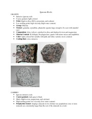 Rock Types Exam Study Guide