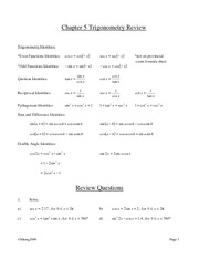Trigonometric Equations and Identities