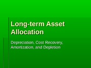 2011.9 Long-term Asset Allocation