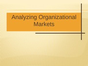 Analyzing Organizational Markets