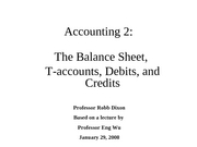 Financial Accounting - Debits and Credits