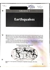 GLG112 Lab 5 Earthquakes