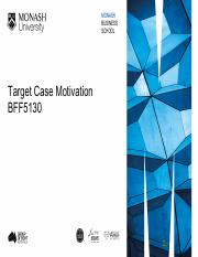 5 Target Case Motivation