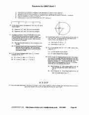 GMAT Sample Question 3