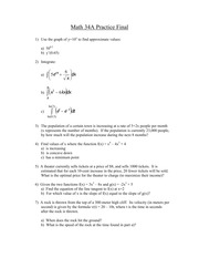 Math 34A Practice final with answers