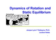 Lec02_Dynamics of Rotation