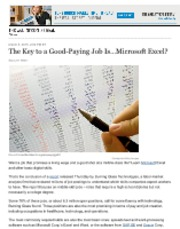 The Key to a Good-Paying Job Is…Microsoft Excel- - At Work - WSJ.pdf