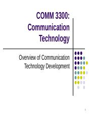 overview of comm tech development powerpoint.ppt