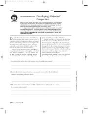 Chapter 25 section 4 Skillbuilding Practice Developing Historical Perspective.pdf