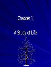 Chapter 1 A Study of Life.pptx