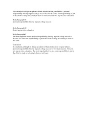 Gen 200 Personal Responsibility Essay