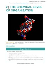 Chapter 2 - The Chemical Level of Organization