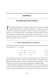 Ordinary & Partial Differential Equations - Reynolds (2000) - Chapter 11 - Initial-Boundary Valu