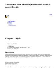 Chapter 11 Quiz: BAD52: Human Relations in Organizations: Section 2293: Olmos B.html