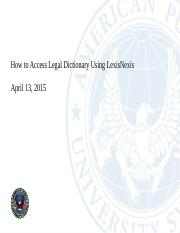 How to Access Law Dictionary Using Lexis.pptx