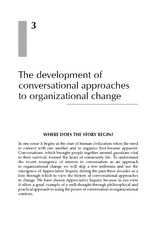 Chapter 3 The Development Of Conversational Approaches To Organizational Change