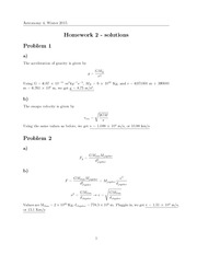 HW#2, Solutions