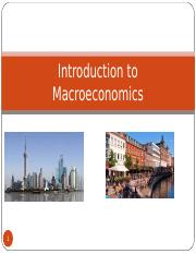 Introduction to Macroeconomics, day 1,-2 13-14. October 2015 - Class.ppt