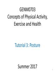GENM0703 Summer 2017 T3 Posture T4 Measuring PA