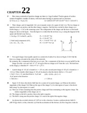 Chapter 22 Homework Solution on University Physics II