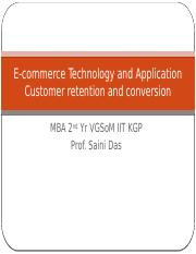 Customer retention and conversion